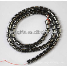 Hematite 64mm drum beads for jewelry